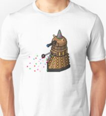 Birthday Dalek - Pixel Art Unisex T-Shirt