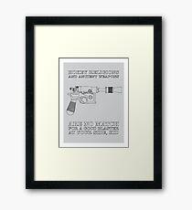 Han Solo - Blaster Framed Print