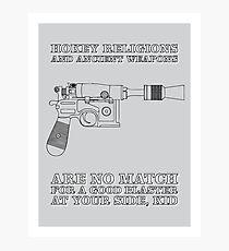 Han Solo - Blaster Photographic Print