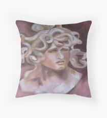 Medusa Head Throw Pillow