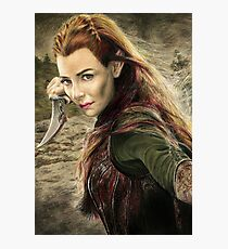 Tauriel Portrait- The Hobbit, Desolation of Smaug Photographic Print