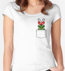 8-Bit Mario Pocket Piranha Plant Women's Fitted Scoop T-Shirt