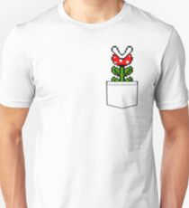 8-Bit Mario Pocket Piranha Plant T-Shirt