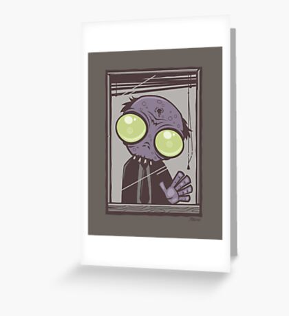 Office Zombie Greeting Card