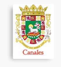 Canales Shield of Puerto Rico Canvas Print