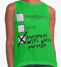 Burdened With Glorious Purpose Contrast Tank