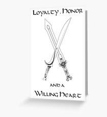 Thorin Oakenshield : Loyalty Greeting Card