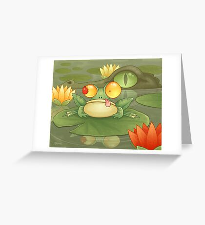 Swamp Snack Greeting Card