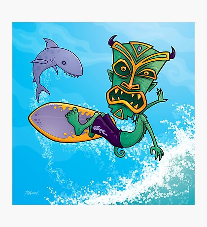Tiki Surfer Photographic Print