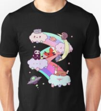 Rainbow Clouds and Animals Slim Fit T-Shirt