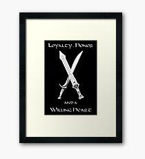 Thorin Oakenshield : Loyalty  -white- Framed Print