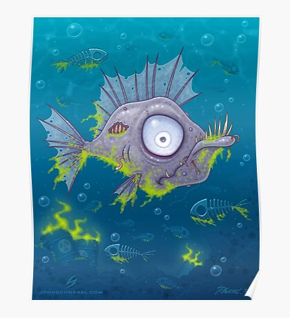 Zombie Fish Poster