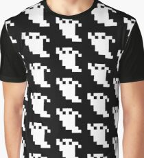 8 Bit Pixel Ghost Graphic T-Shirt