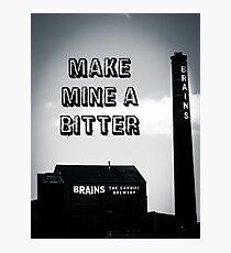 Brains Bitter art Photographic Print