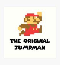 Mario - The Original Jumpman Art Print