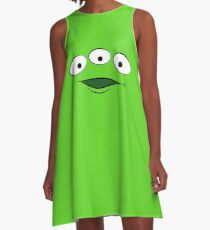 Toy Story Alien - Smile A-Line Dress