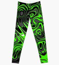Swirls and Spots - Green Leggings
