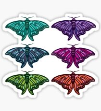 Technicolor Butterfly Collection Sticker