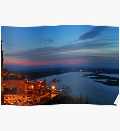 Oasis at Sunset Poster