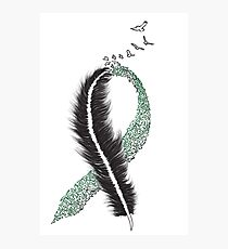 Liver Cancer Awareness Ribbon Photographic Print