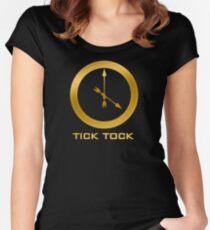 Catching Fire Tick Tock Shirt  Women's Fitted Scoop T-Shirt
