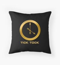 Catching Fire Tick Tock Shirt  Throw Pillow