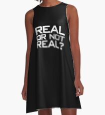 Real or Not Real? A-Line Dress