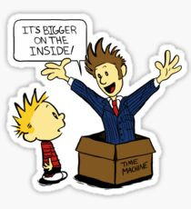 Calvin and the Doctor Sticker