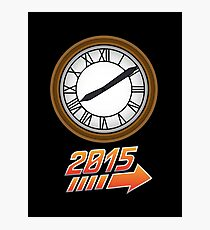 Back to the Future Clock 2015 Photographic Print