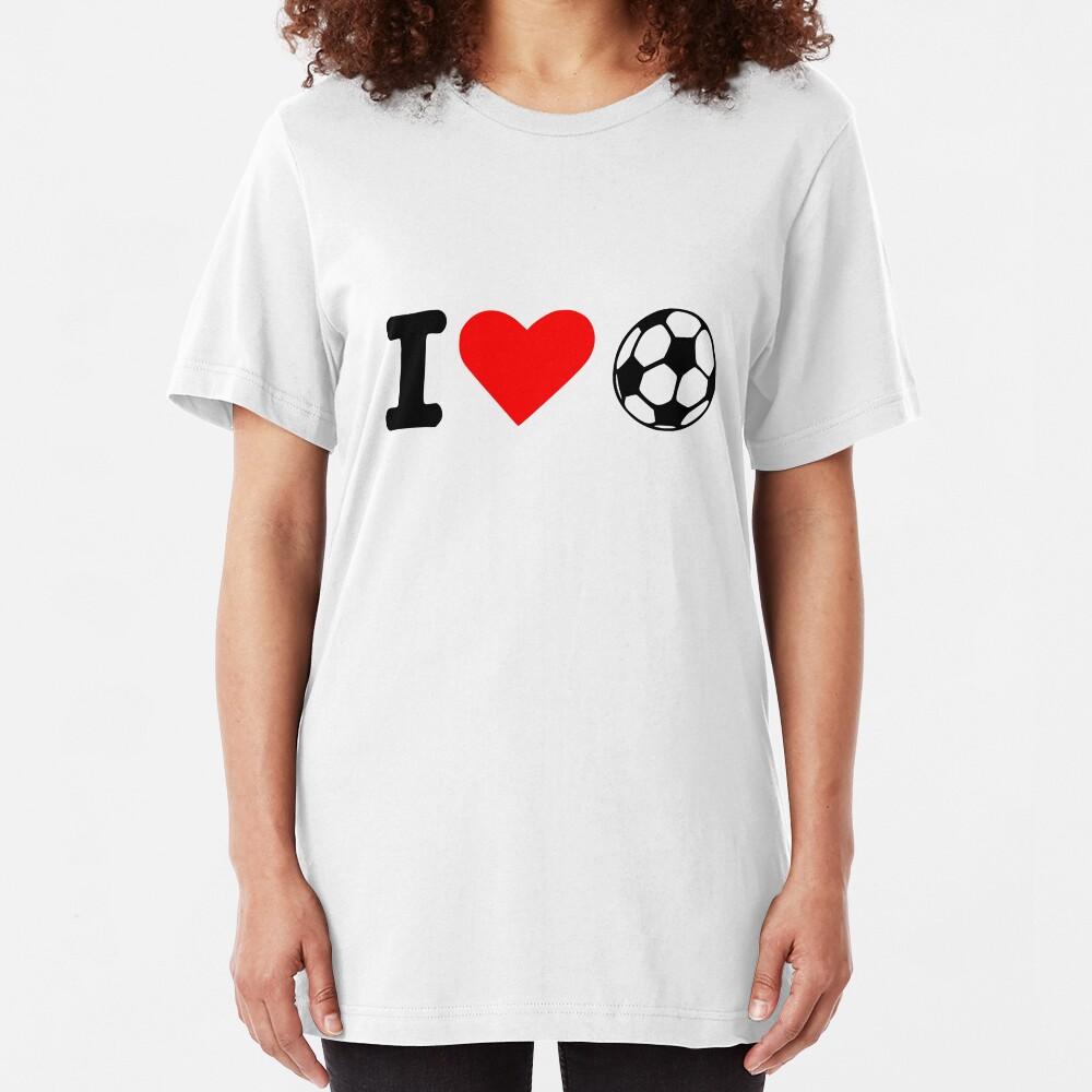 Me encanta el balón de fútbol Camiseta ajustada