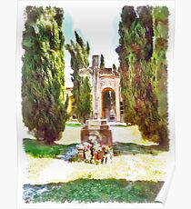 Fognano: cemetery rood Poster