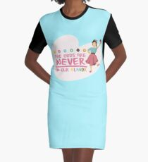 The Odds are NEVER in Our Flavor Graphic T-Shirt Dress