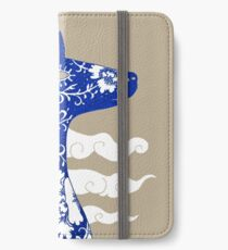 The Water Horse in Blue and White iPhone Wallet/Case/Skin
