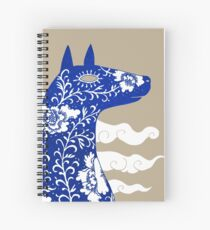 The Water Horse in Blue and White Spiral Notebook