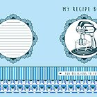 Blueberry Retro Recipe Book by trossi