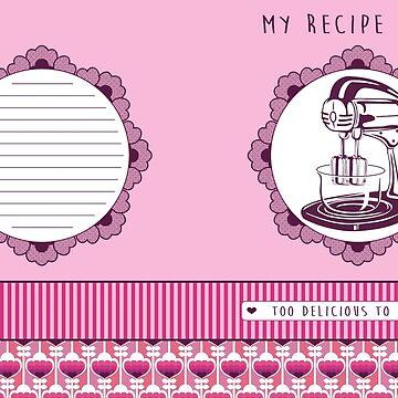 Rose Retro Recipe Book by trossi