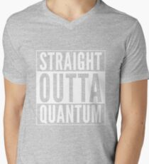 Straight Outta Quantum (white on black) T-Shirt