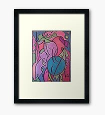 Bright Chaos Framed Print