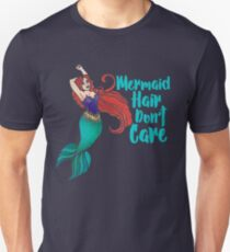 Mermaid Hair Don't Care Slim Fit T-Shirt