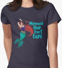 Mermaid Hair Don't Care Women's Fitted T-Shirt