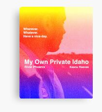 my own private idaho - sunset Canvas Print
