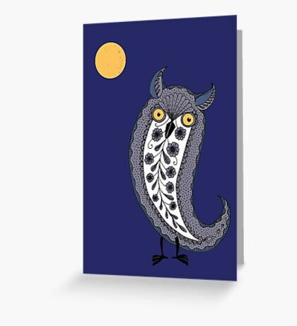 Paisley Owl Greeting Card