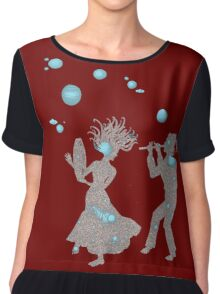 Cosmic Dance with Music of the Spheres Women's Chiffon Top