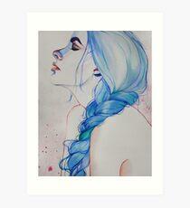 blue haired girl #2 Art Print