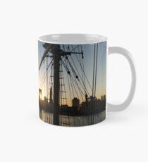 Taza Tall Ship and Brooklyn Bridge - Iconic New York City Sunrise