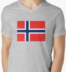 Norway Mens V-Neck T-Shirt