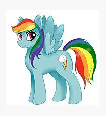 Rainbow Dash Photographic Print