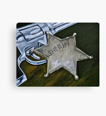 New Sheriff in Town  Canvas Print