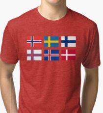 Scandinavian flags Tri-blend T-Shirt