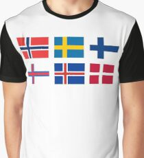 Scandinavian flags Graphic T-Shirt